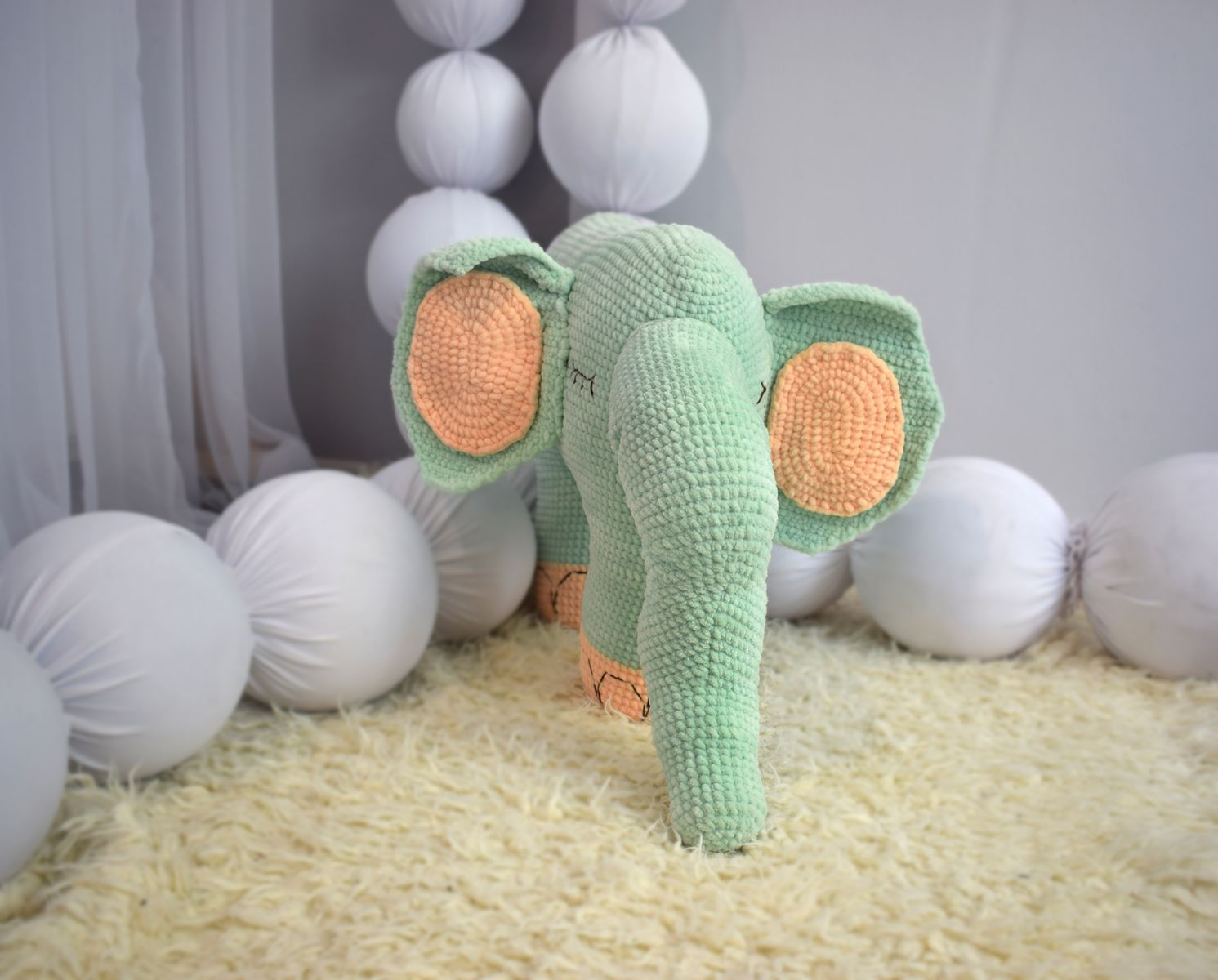 LARGE Elephant. Crochet. Knit. Amigurumi. Soft Toy. Stuffed ... | 1200x1491