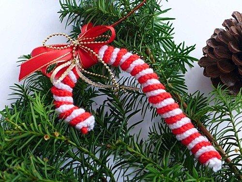 Süße Zuckerstange Als Weihnachtsdeko Kostenlose Häkelanleitung