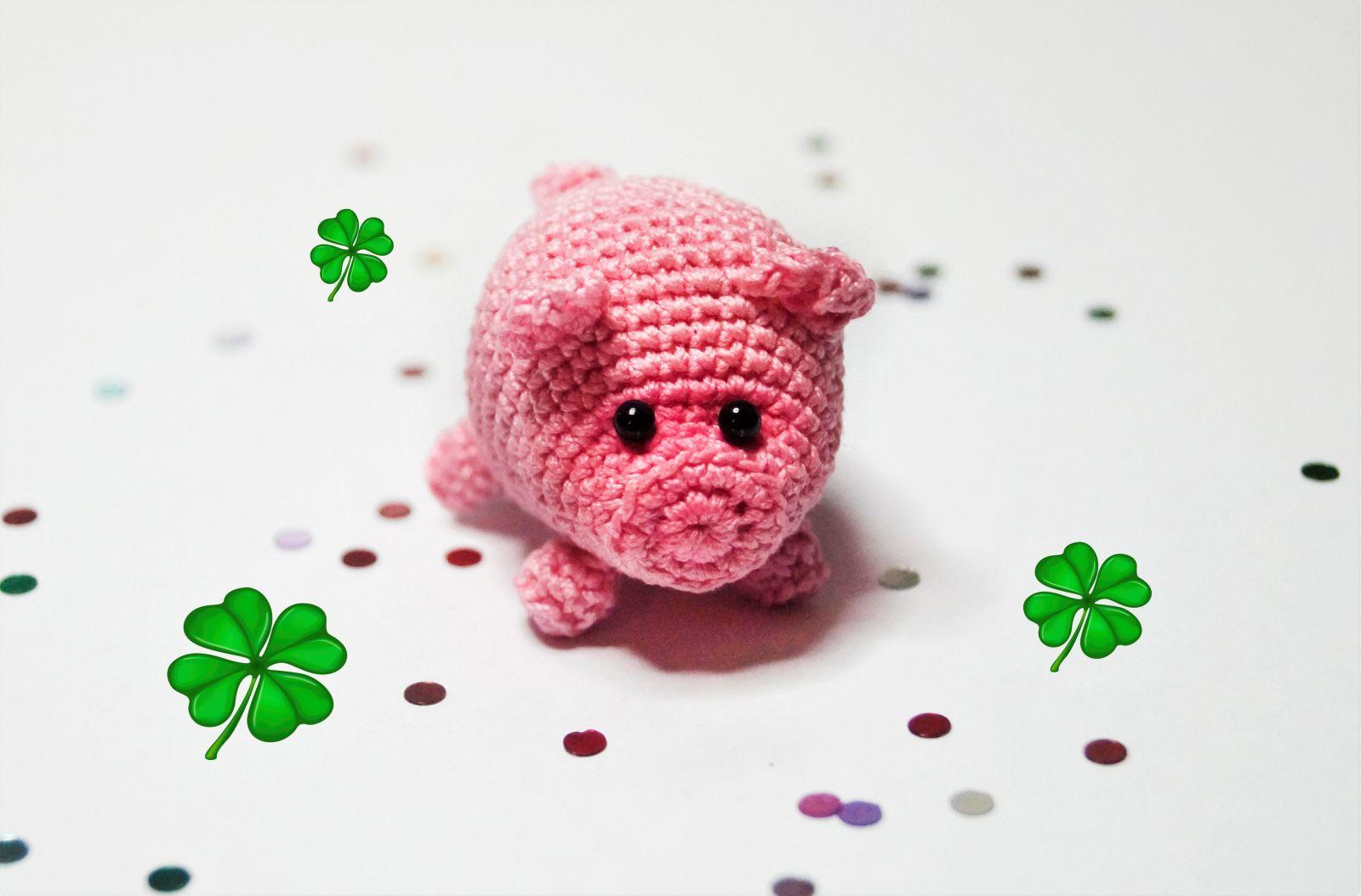 Kostenlose Häkelanleitung Glücksschweinchen Glücksbringer