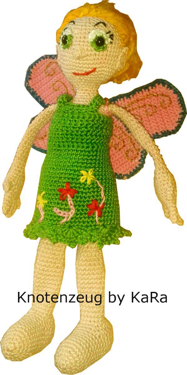 Feenkleid Und Flügel Für Puppe Lola Oder Barbie