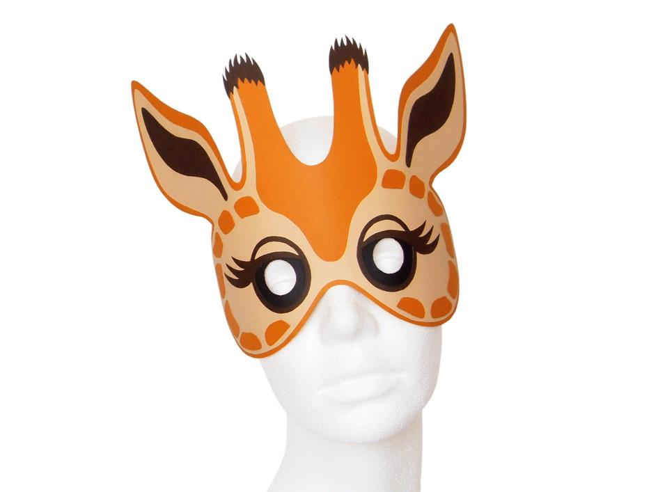 Maske Giraffe Bastelvorlagen Mit Anleitung