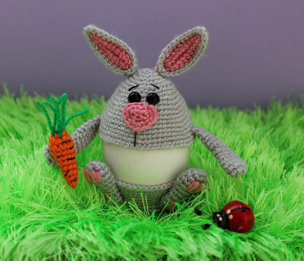 Easter egg decor. Rabbit