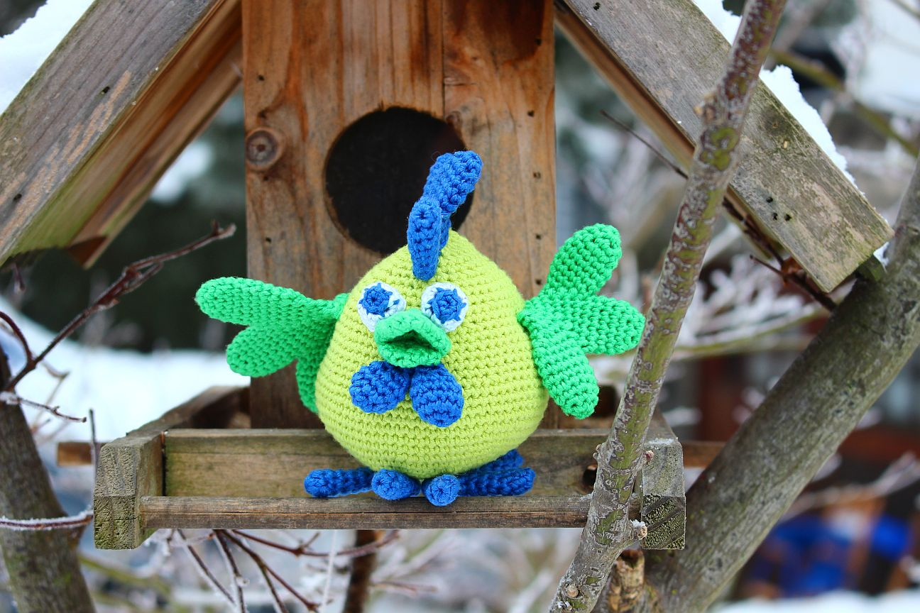Amigurumi Pattern for Rooster Gordey. Crochet bird tutorial. Gzhel ... | 864x1296
