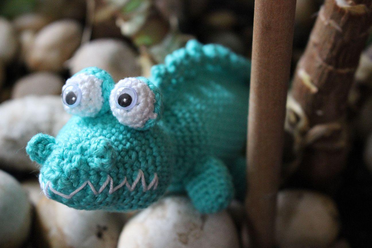 Kostenlose Häkelanleitung Krokodil