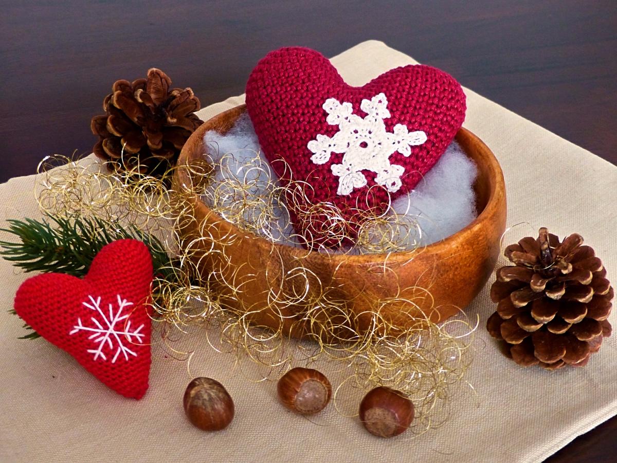 Romantisches Herz Winterliebe Kostenlose Hakelanleitung