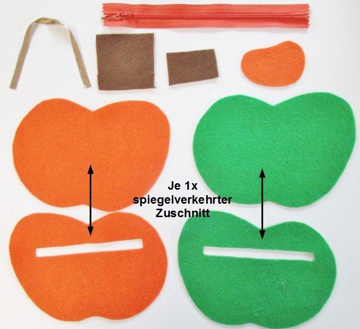 Das Apfeltäschchen: Portemonnaie, Geldbörse oder Brustbeutel ...