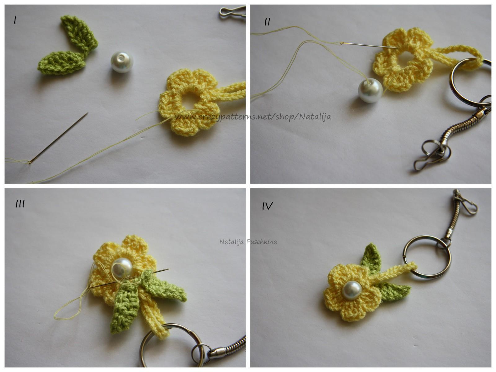 Häkelanleitung Blume Schlüsselanhänger Oder Taschenbäumler