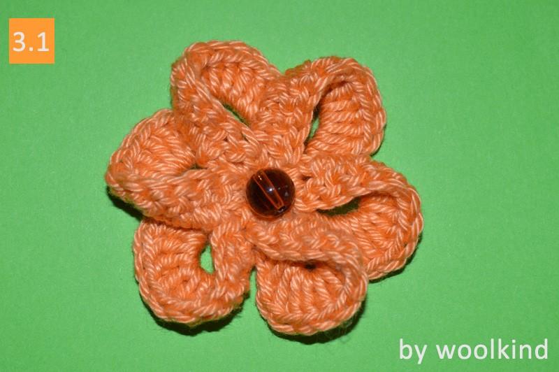 Kostenlose Häkelanleitung 3d Blume