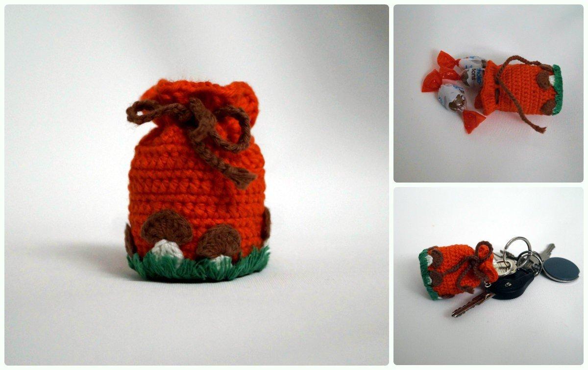 Mini-Beutel in Herbstfarben