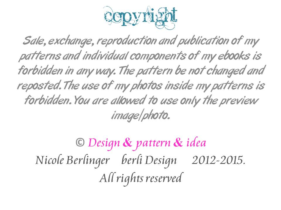 copyright berli Design and myDIYkreativ