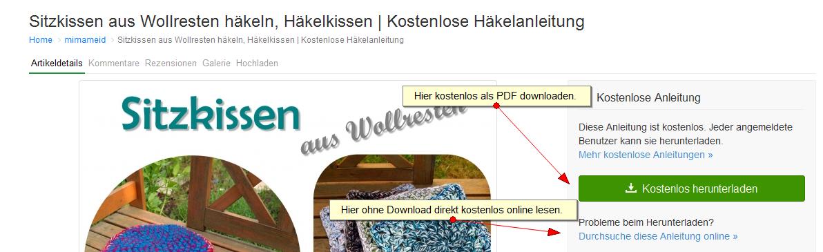 Häkelanleitung kostenlos PDF? - Allgemein Forum