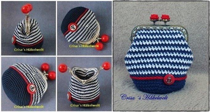 Häkelanleitung Vintage Geldbörse Mit Taschenbügel