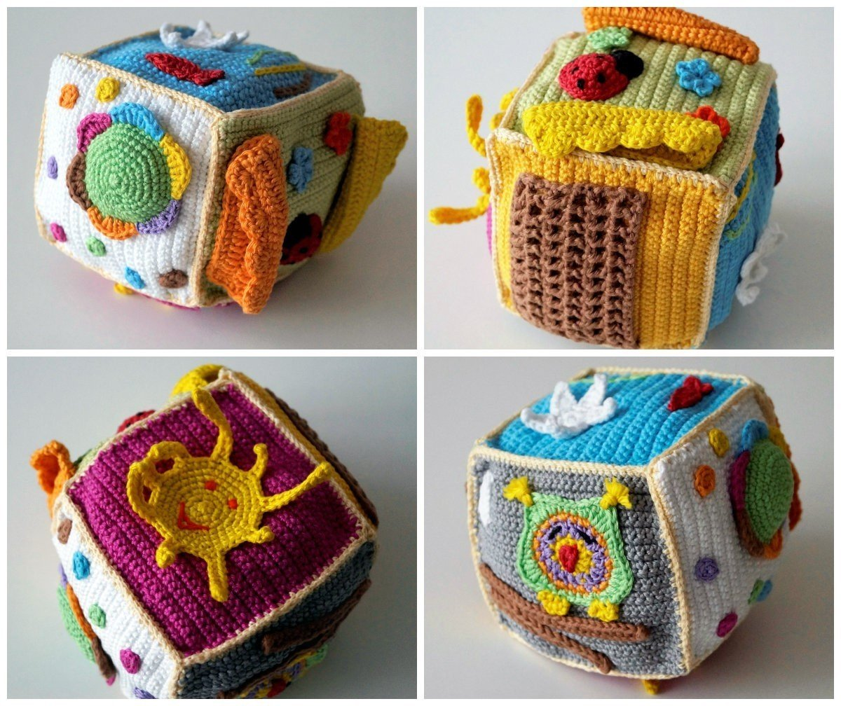 Free Crochet Pattern for Beginners Baby Dice