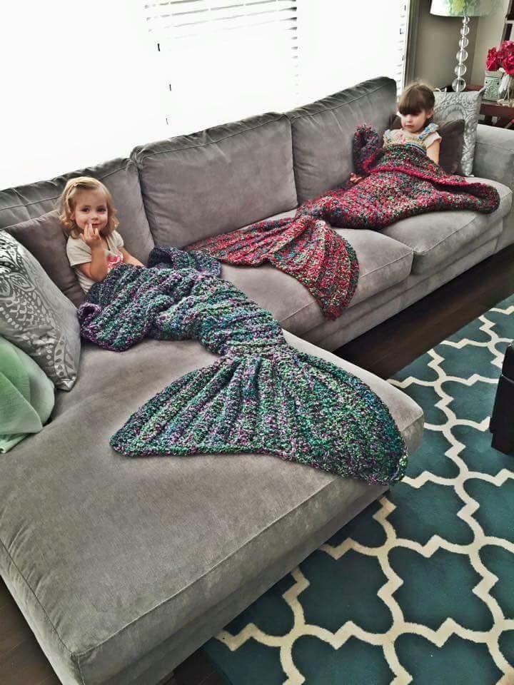 Meerjungfrauen Decke - Häkeln Forum