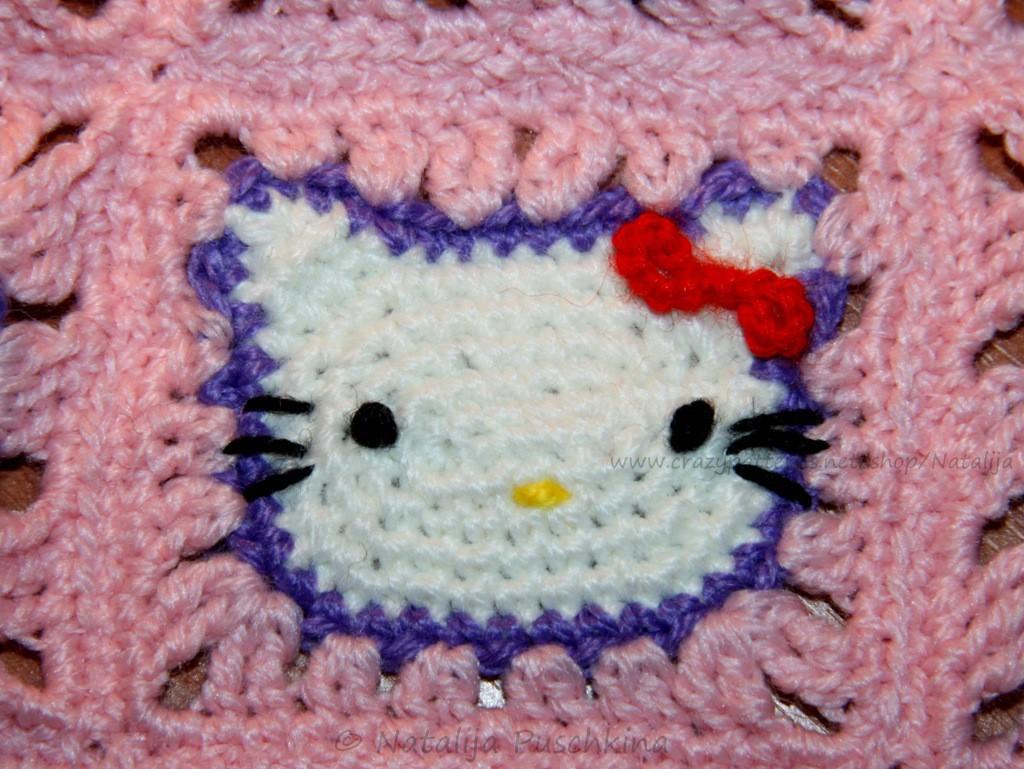 Granny Square \'Hallo Kitty\' - Kostenlose Häkelanleitung