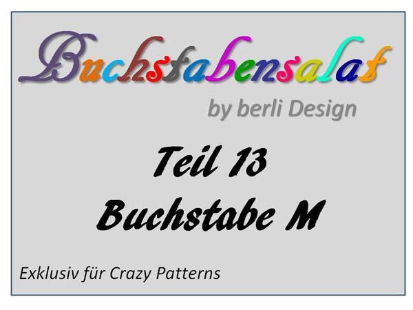 Buchstabensalat Teil 13 Buchstabe M Als Applikation Und 3 D