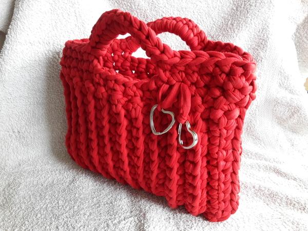 Kostenlose Anleitung für eine Tasche gehäkelt // Textilgarn //Zpaghetti