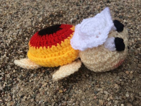 Kostenlose Häkelanleitung - Kleine Fan-Schildkröte