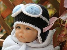 Aviator Baby Hat Crochet Pattern