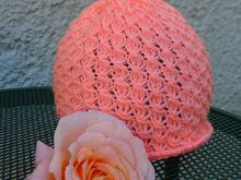 FREE  Knitting Pattern. Lace Hat