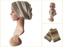 Free Crochet Pattern 3 in 1 Hat, Loop, Wrist-Warmer