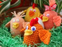 Free crochet pattern. Chicken