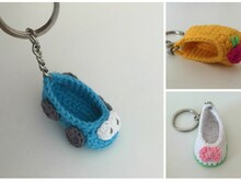 Free Crochet Pattern Keychain Little Shoe