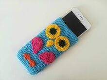 Free crochet pattern phone case owl