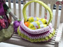 Free Crochet Pattern. Easter Basket