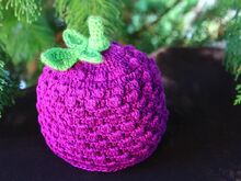 Free Crochet Pattern. Baby Hat Blackberry