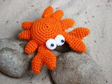 Free Crochet Pattern. Crab