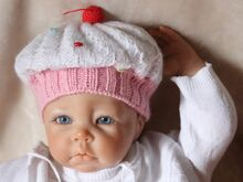 Free Knitting Pattern. Cupcake Baby Hat