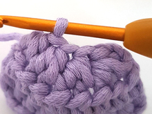Half double crochet (US) / half treble crochet (UK) decrease