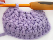 Crochet double crochet (half double crochet UK) together = Decrease with double crochet