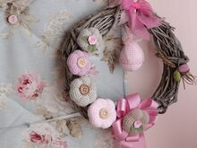 Free Crochet Pattern. Door Wreath