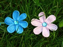 Tunisian Crochet Flower. Free Pattern