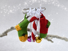 Pendant with Christmas socks - New Year Festive Brooche