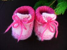 Free Knitting Pattern for Felted Baby Boots