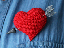 "Brooch ""Wounded heart """