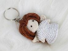 Free Crochet Pattern Keychain Guardian Angel