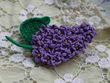 Brooch «Lilac twig»