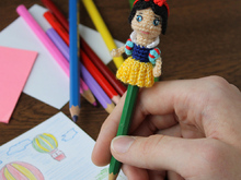 Doll Snow White - pencil decor