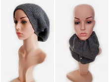 Free Crochet Pattern 2 in 1 Beanie  and Loop
