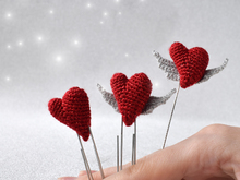 """Heart with wings"" is a paper clip for a diary or brooches"
