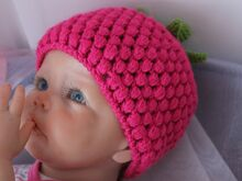 Free Knitting Pattern for Raspberry Baby Hat