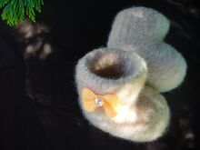 Free Knitting Pattern. Felted Baby Booties