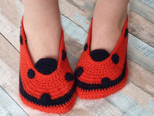 Free Crochet Pattern Kids Slippers Ladybug