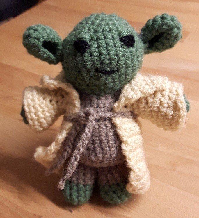 10+ Star Wars Yoda Crochet Patterns | 750x684