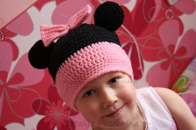 Süße Mickey Mouse Mütze | Anleitung hier | Mütze selbst häkeln