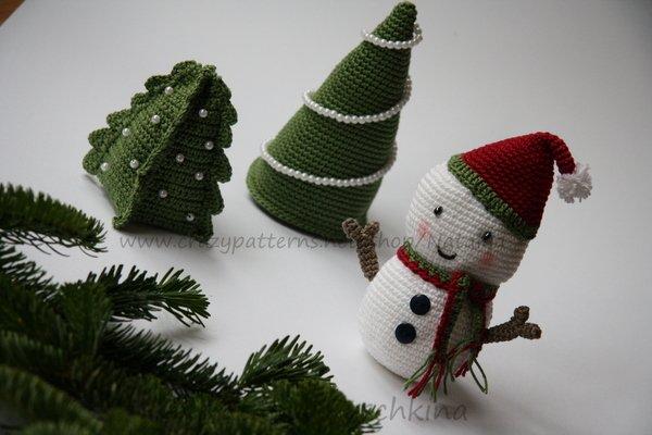 Weihnachtsdeko häkeln anleitung kostenlos  Tannenbaum - Individuelle Handarbeit, Anleitungen und E-Books auf ...